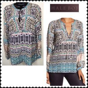 HALE BOB Palana Silk Tunic Blouse Sz Medium NEW